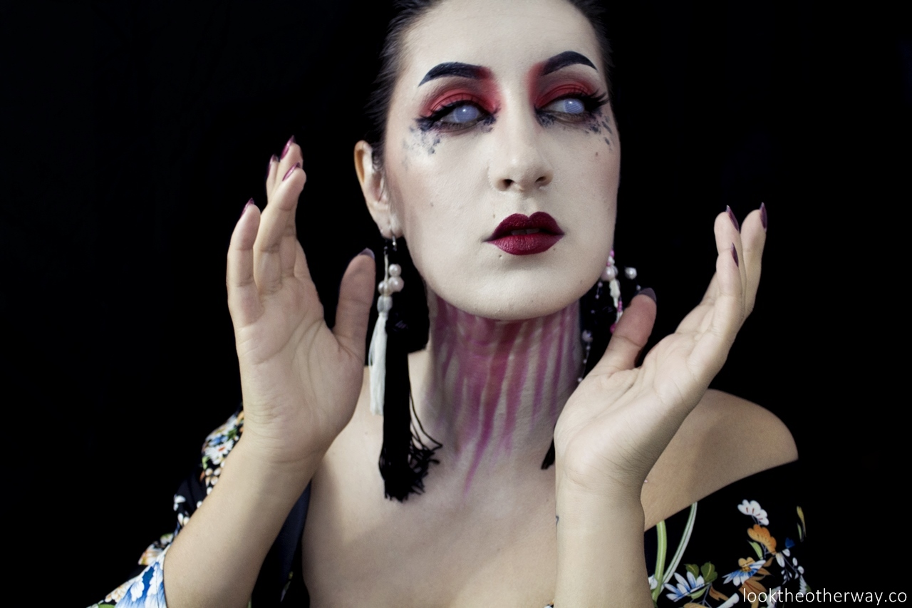 all hallows eve geisha halloween makeup tutorial