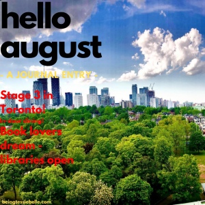 Hello August! Journal Entry - August 2020