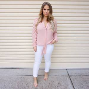 White and Pink Outfit of The Day