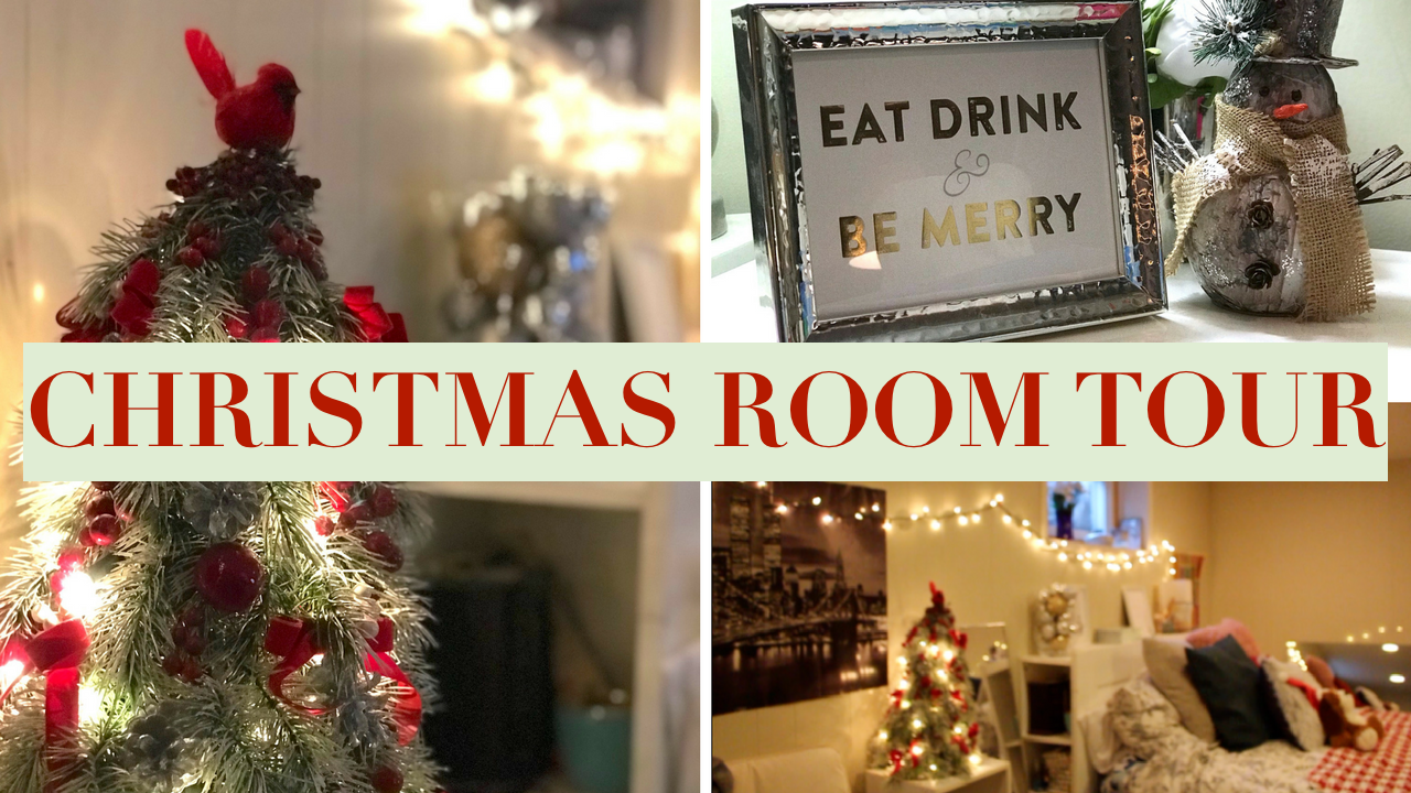 HOLIDAY ROOM TOUR | DIY DECORATIONS FOR SMALL SPACES
