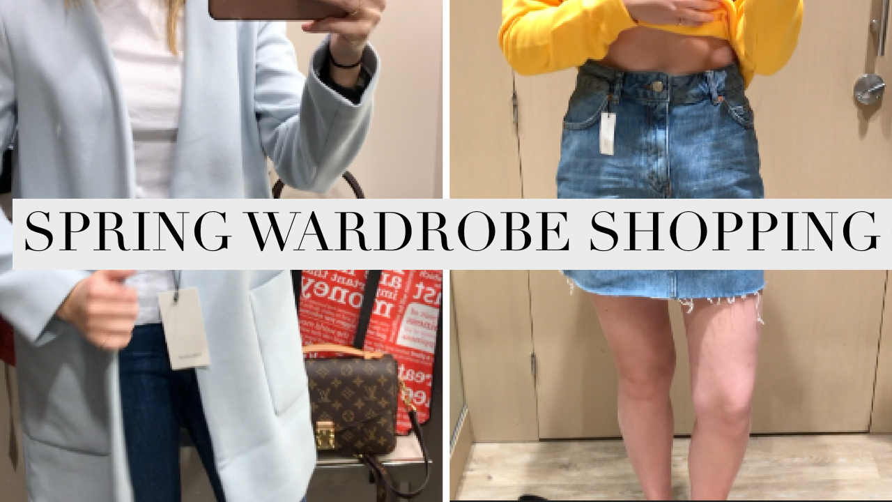 COME SPRING WARDROBE SHOPPING WITH ME !
