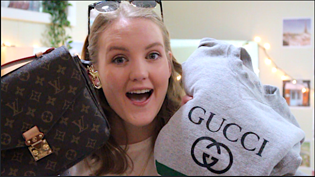 THRIFT STORE SHOPPING: LOUIS VUITTON, GUCCI, AND RAYBANS | EmilyKaitlyn