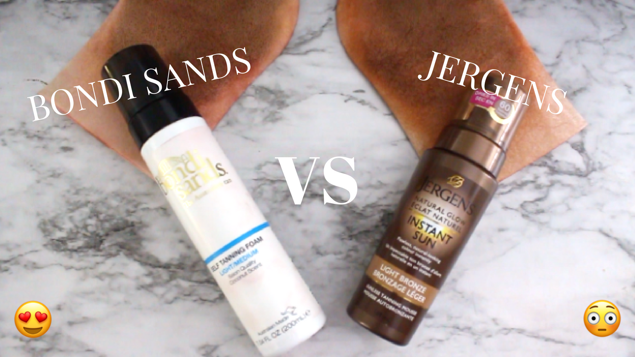 WHICH IS WORTH YOUR MONEY? BONDI SANDS VS JERGENS INSTANT SUN TANNING FOAM