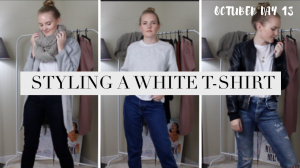 5 WAYS TO STYLE A WHITE TEE | FALL 2018