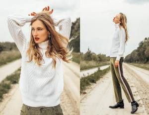 Vanity sweater, two different looks