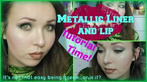 How to: Metallic lip and coloured liner Tutorial