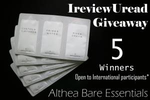 Althea's Bare Essential Review + International Giveaway