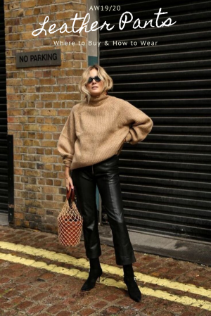 Leather Pants as a Trend This Season: Where to Buy & How to Wear