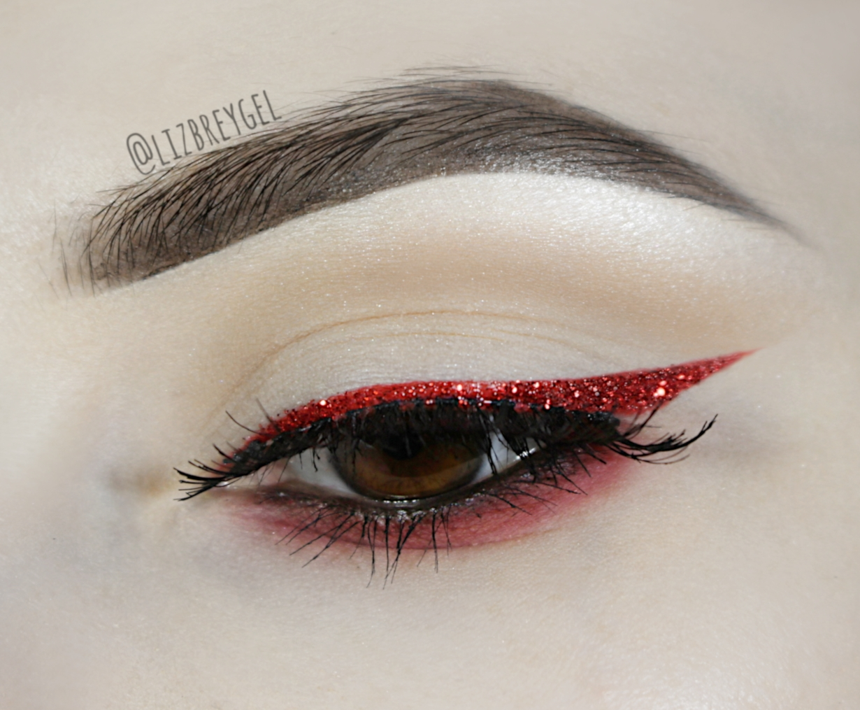 CRANBERRY RED GLITTER EYELINER LOOK FOR CHRISTMAS | STEP BY STEP MAKEUP TUTORIAL
