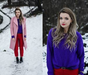 Red , violet and pink