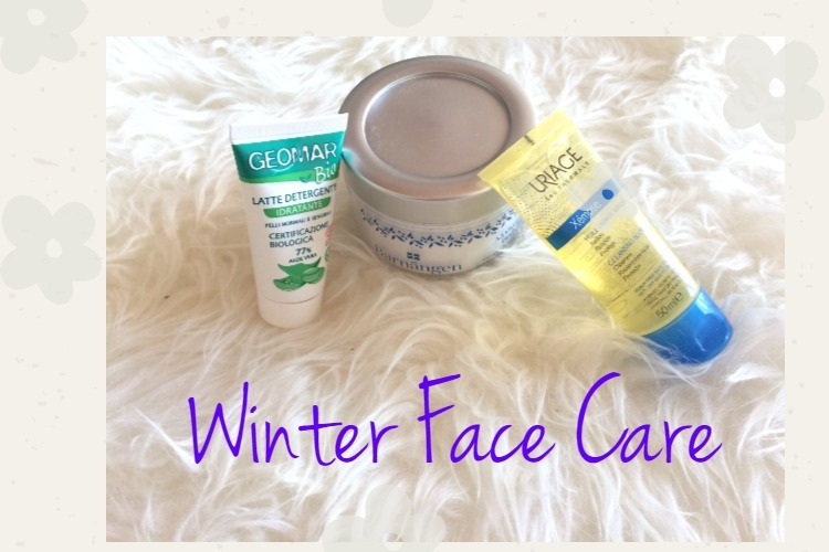 My winter face cares routine