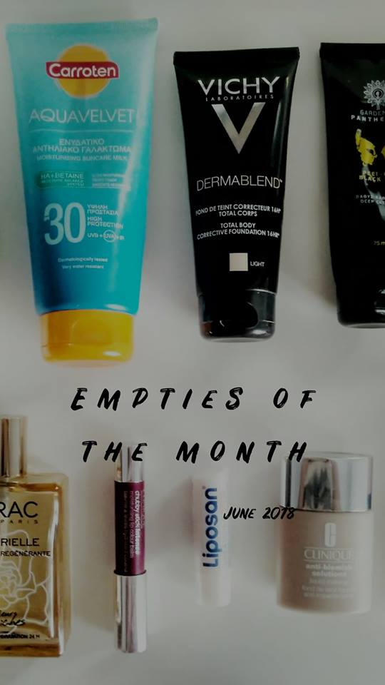 Empties of the month- June 2018