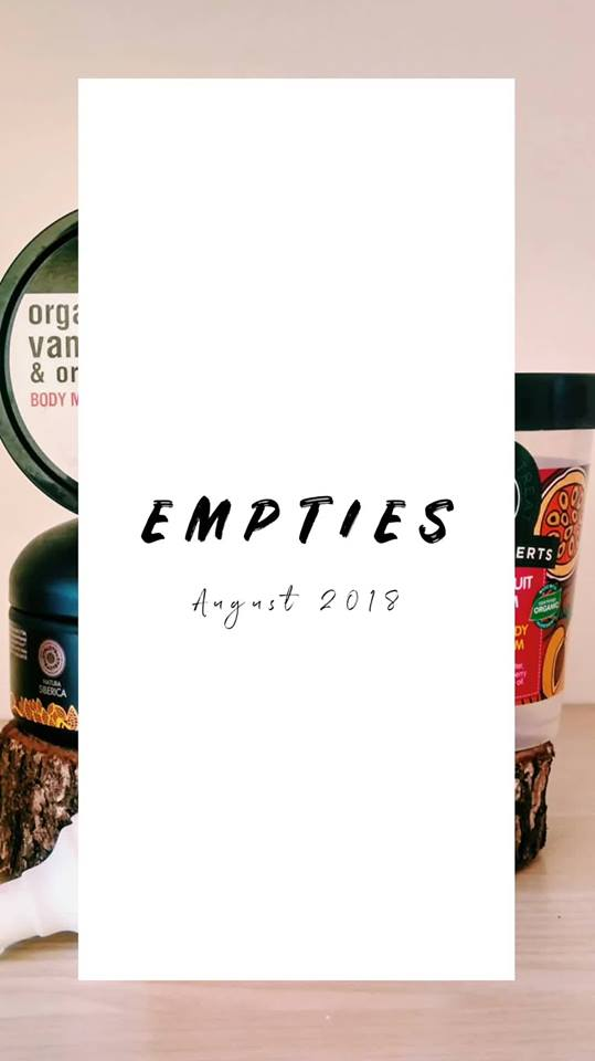 Empties of the month: August 2018!