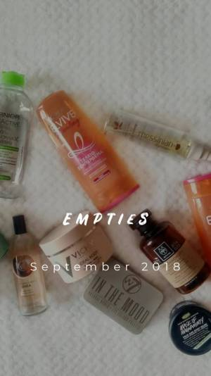 Empties of the month: September 2018