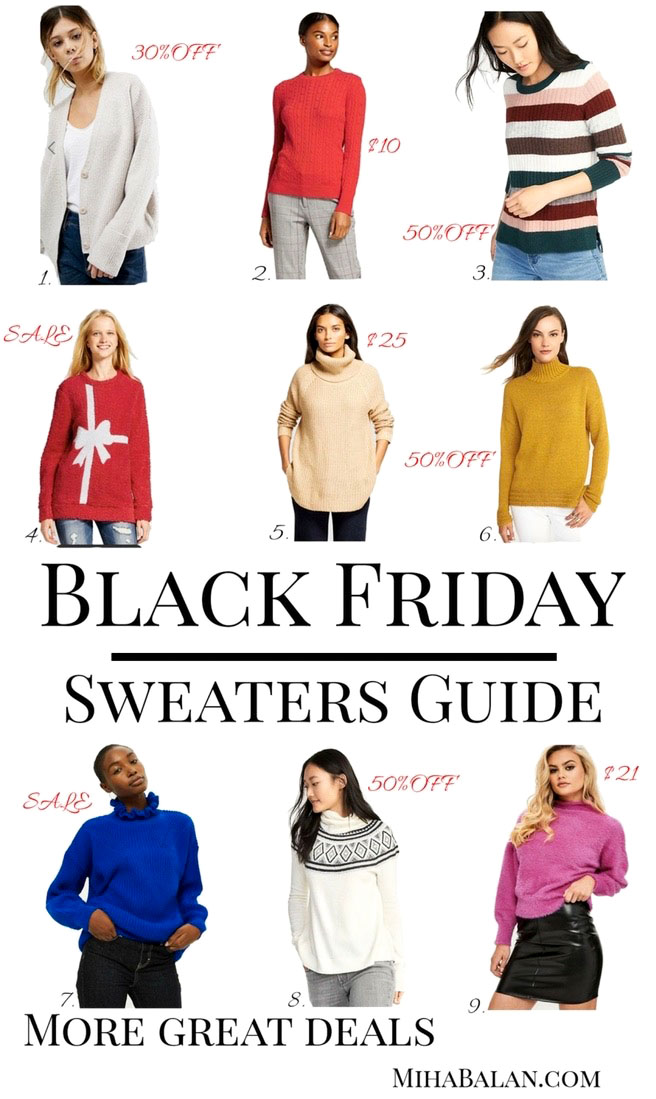 Black Friday/Cyber Monday Sweater Guide