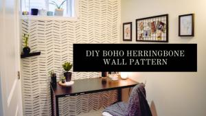 DIY Boho Herringbone Pattern Tutorial
