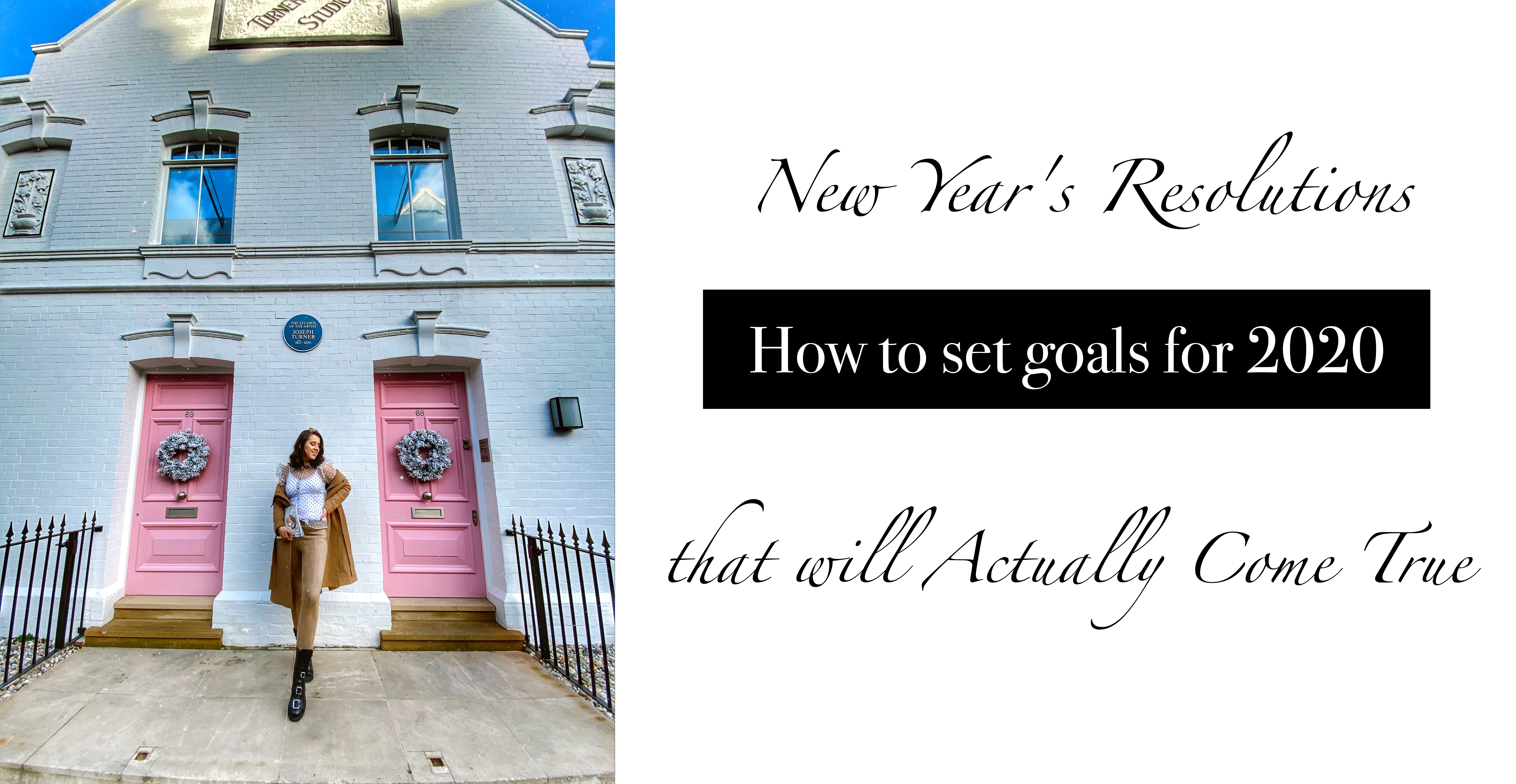 New Year Resolutions - How to Set Your 2020 Goals + FREE Template