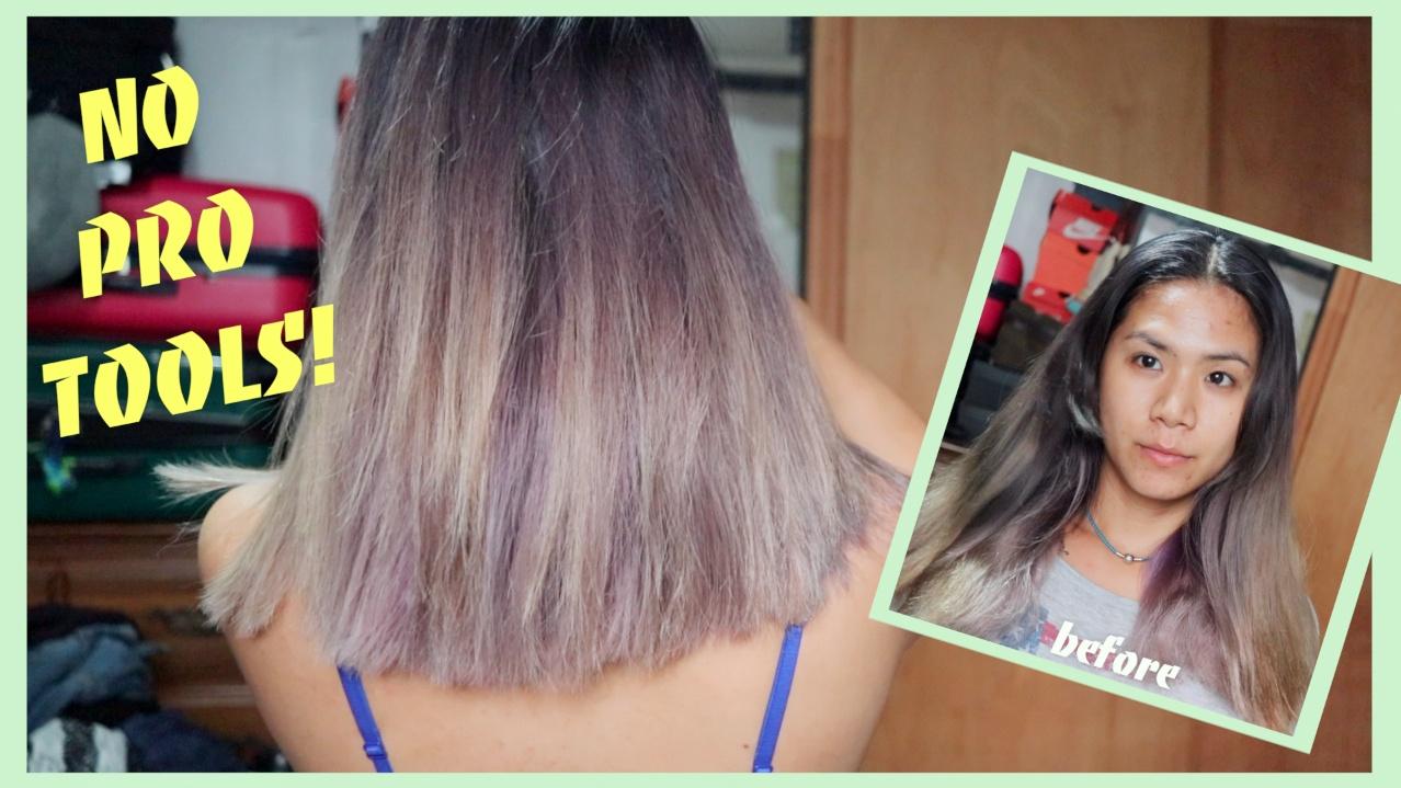 HOW I CUT MY OWN HAIR STRAIGHT - TUTORIALS - Kitchen scissors