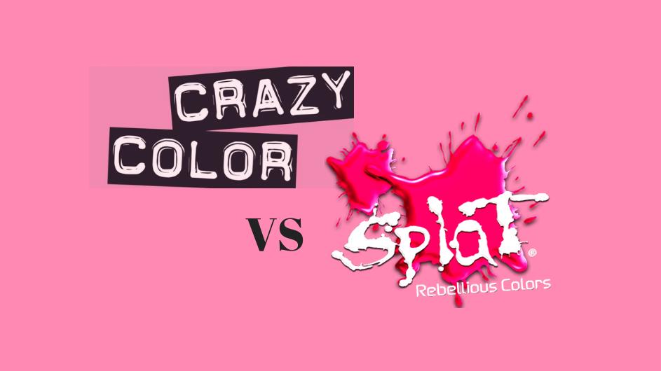 Splat Vs Crazy Color Review Rainbow Hair Colors Reviews Splat