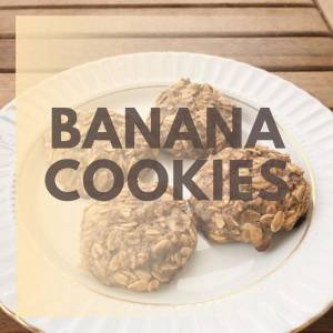Banana Cookies - No White Sugar, No Flour