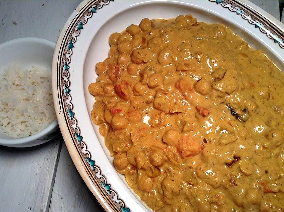 South west Indian chickpea curry