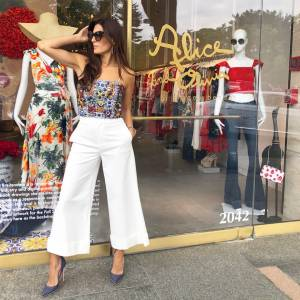 Cropped for summer in alice + olivia